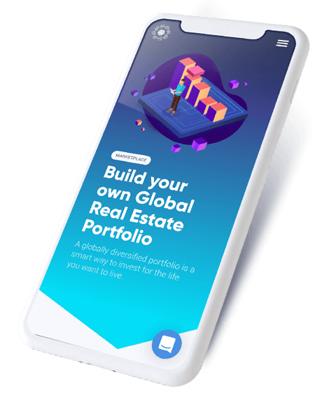 phone that reads build your own global real estate portfolio